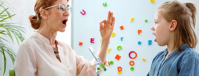 Speach Therapist Teaching Student